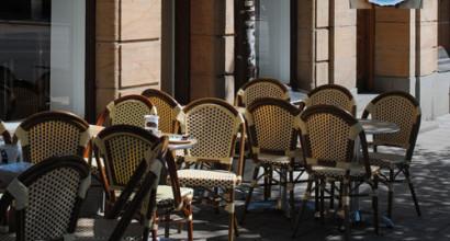 EspressoHouse i Stockholm köpte stolar och bord för utebruk