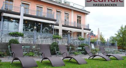 Scandic Hasselbacken på Djurgården i Stockholm köpte utemöbler