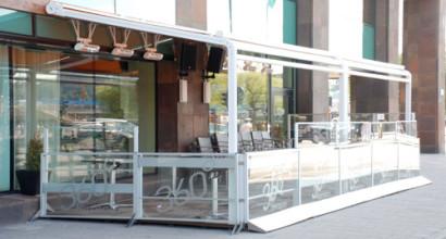Sheraton i Stockholm valde flexibel inglasning från Veranda Uteserveringar