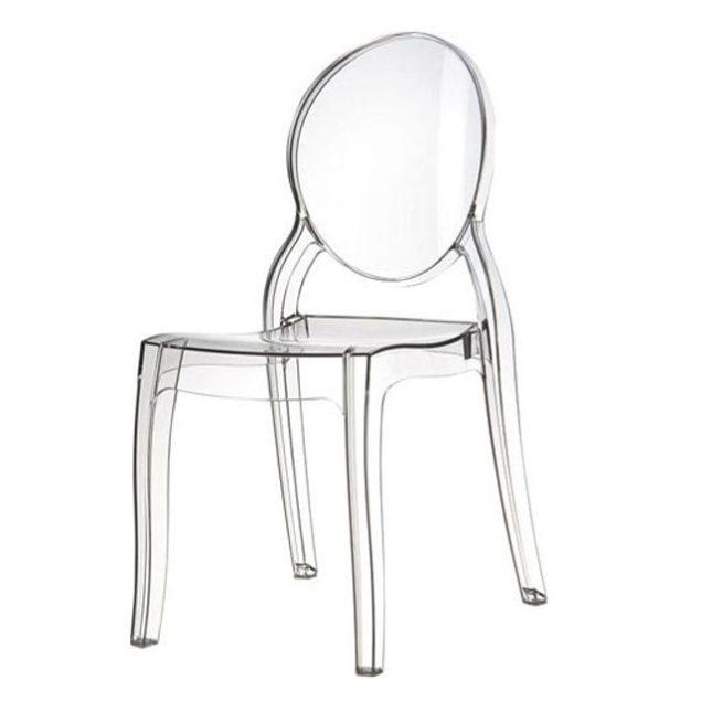 princess stol transparent. Black Bedroom Furniture Sets. Home Design Ideas
