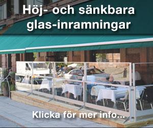 VerandaUteServeringar.se - Höj- och sänkbara glas-inramningar.