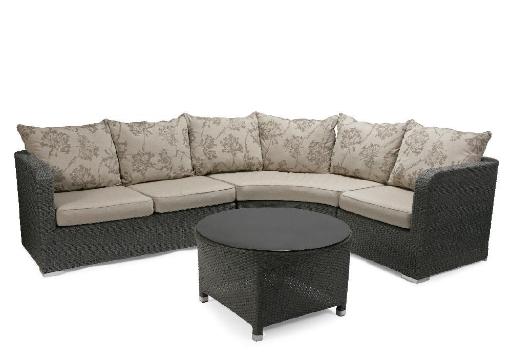 rund soffa utemöbler
