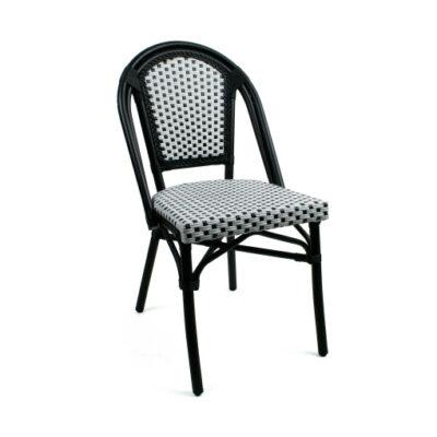 VerandaUteServeringar.se-Paris-Stapelstol-svart-vit-78270
