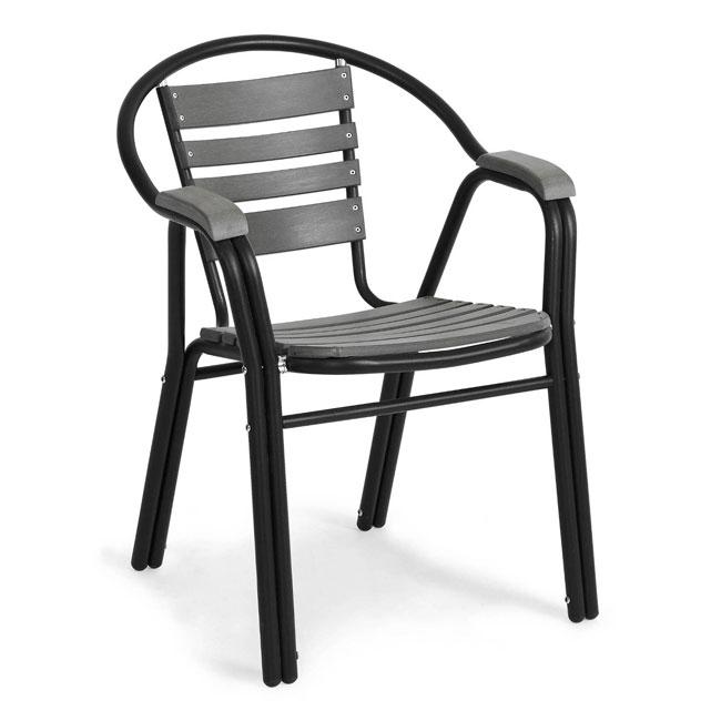 VerandaUteServeringar.se-Jolly-Café-Stapelstol-svart-aluminium-nonwood_650x650