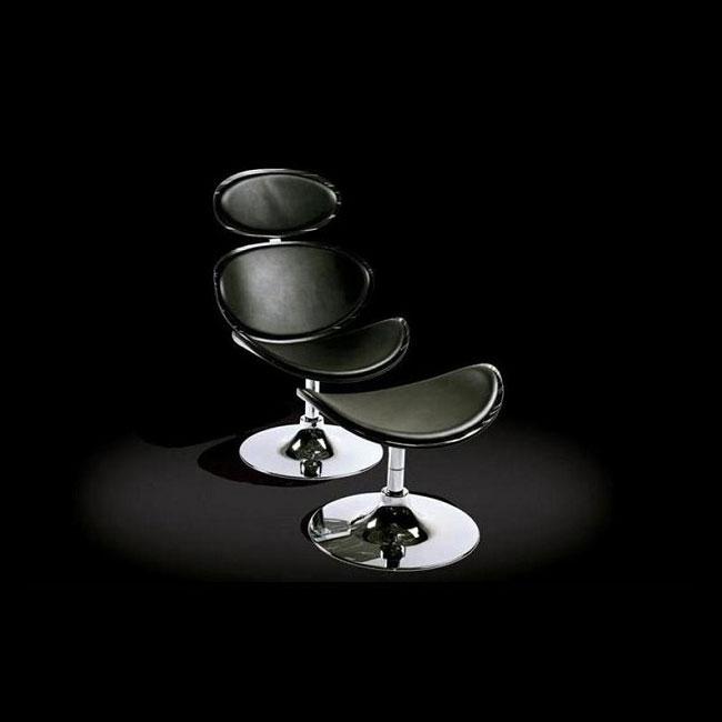 VerandaUteServeringar.se-Cubic-Lounge-Fåtölj-svart-läder_R100-05L