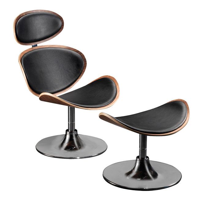 VerandaUteServeringar.se-Cubic-Lounge-Fåtölj-svart-valnöt-läder_R05L-90