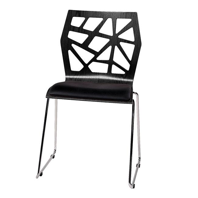 funky matstol svart lack metall. Black Bedroom Furniture Sets. Home Design Ideas