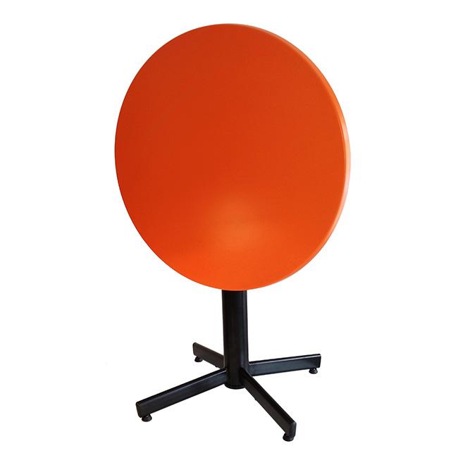 VerandaUteServeringar.se-StableTable-Stativ-FlipTop-svart-med-orange-bordsskiva