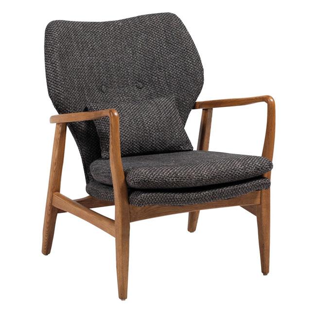 Infinity Lounge Fåtölj - grått tyg / ek - VerandaUteServeringar.se
