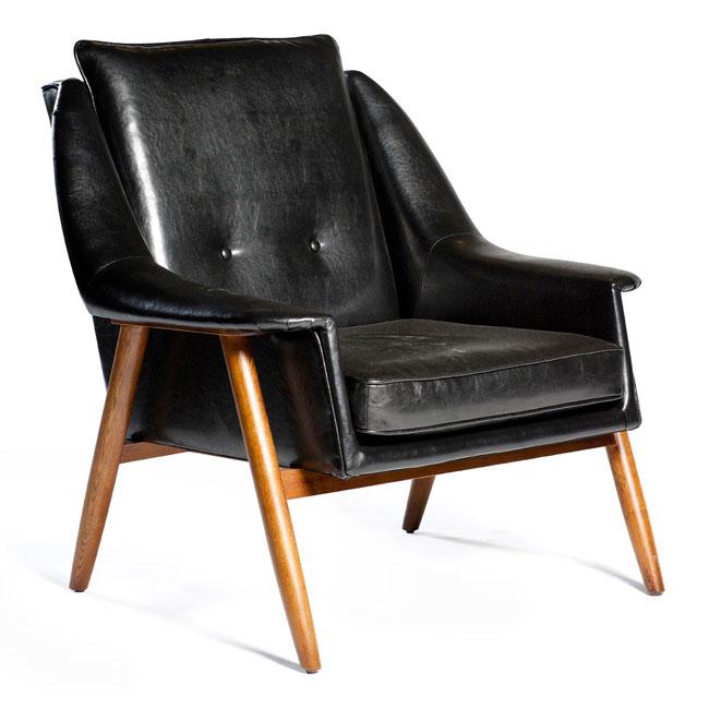 VerandaUteServeringar.se-Malaga-Fåtölj-Lounge-svart-läder-trä_650x650