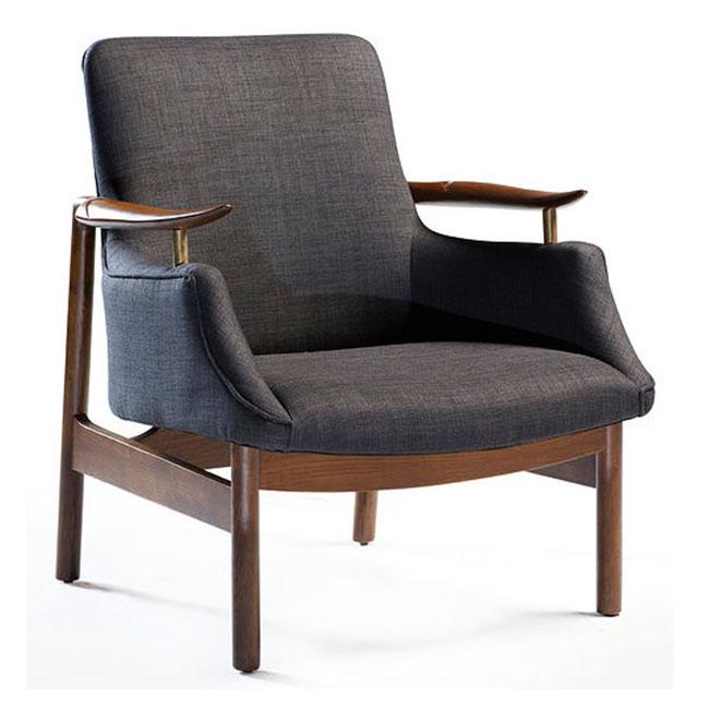 Tycho Lounge Fåtölj grått tyg VerandaUteServeringar se