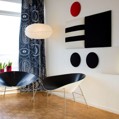 VerandaUteServeringar.se-Wobedo-ljudabsorbenter-art-deco-svart-vitt-rött_650x650