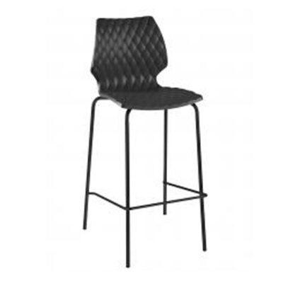 veranda.se-Uni-Barstol-svart-stålrör-polypropylen_w650x650
